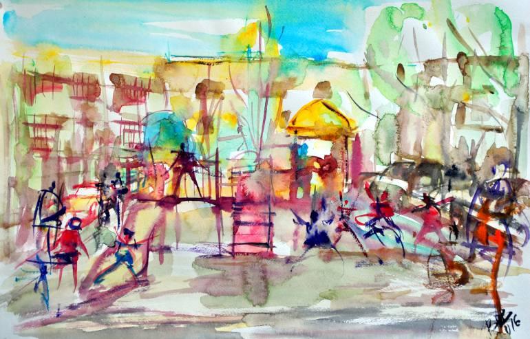 Children Playground by Bob Usoroh